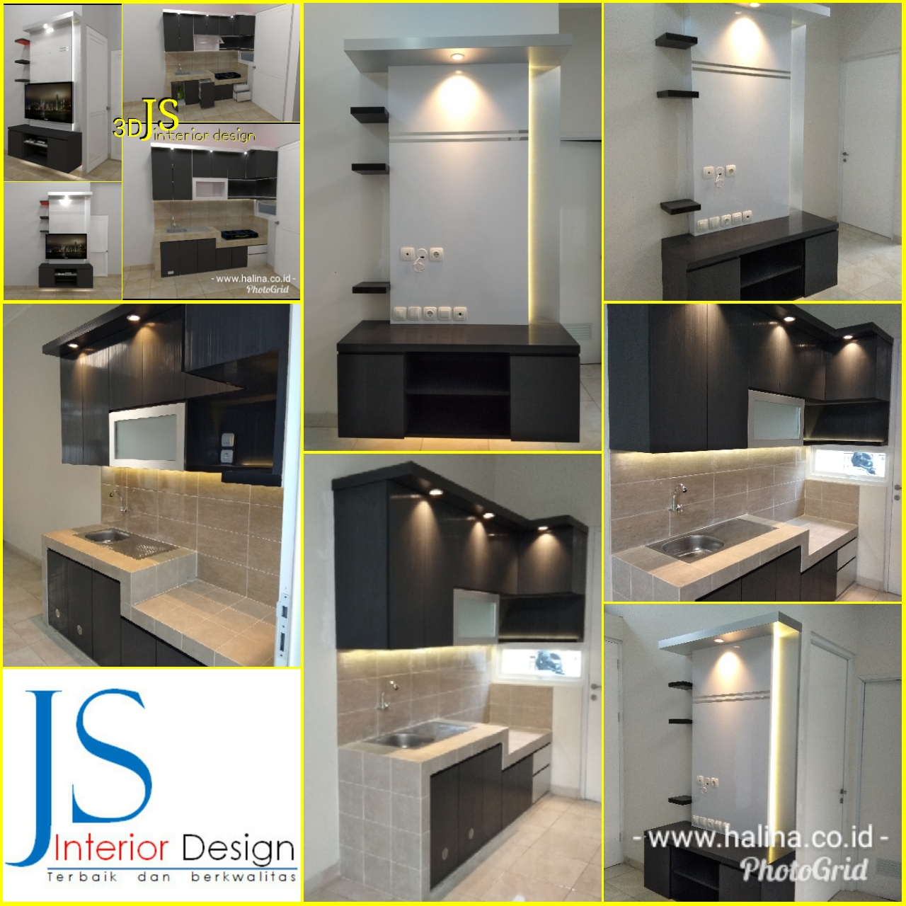 KITCHEN SET DAN BACKDROP TV PERUM METRO CILEGON (JULI 2018)