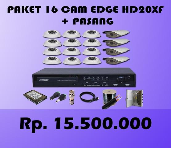 Paket CCTV 16 CH EDGE 2MP HD20XF + Pasang