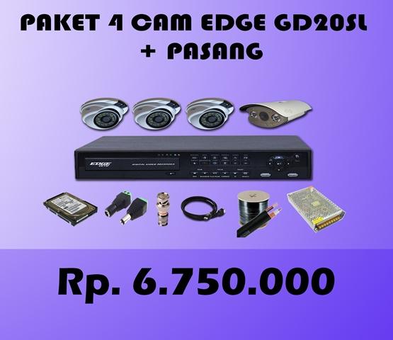 Paket CCTV 4 CH EDGE 2MP HD20SL + Pasang