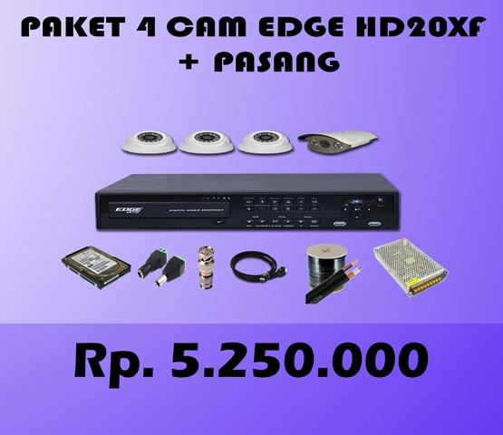 Paket CCTV 4 CH EDGE 2MP HD20XF + Pasang
