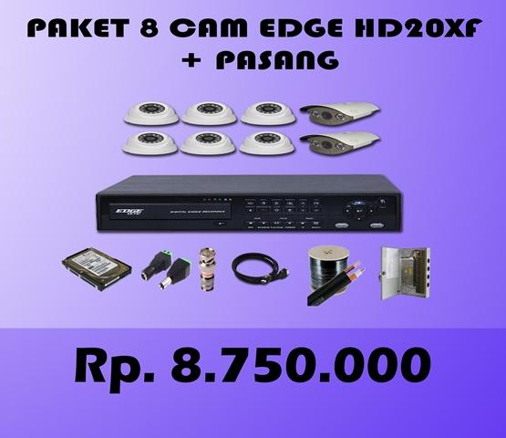 Paket CCTV 8 CH EDGE 2MP HD20XF + Pasang