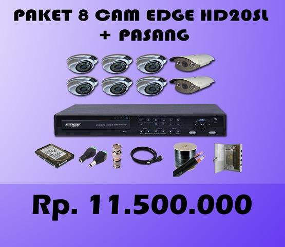 Paket CCTV 8 CH EDGE 2MP HD20SL + Pasang
