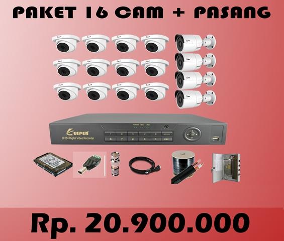 Paket CCTV KEEPER 16  CH + PASANG