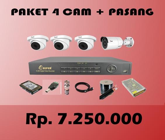 Paket CCTV KEEPER 4 CH + PASANG