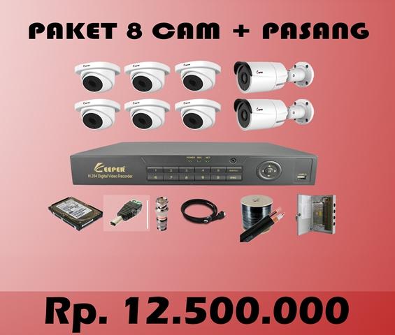 Paket CCTV KEEPER 8 CH + PASANG